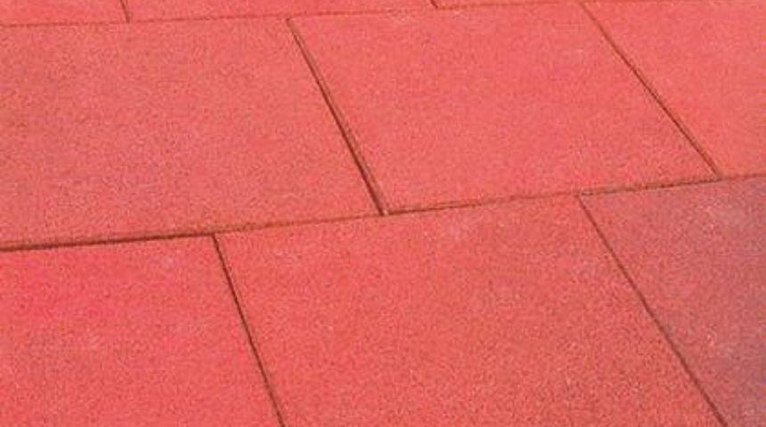 Giwa piastrelle antitrauma in gomma rossa 50x50 sp 4cm - Piastrelle gomma antitrauma ...