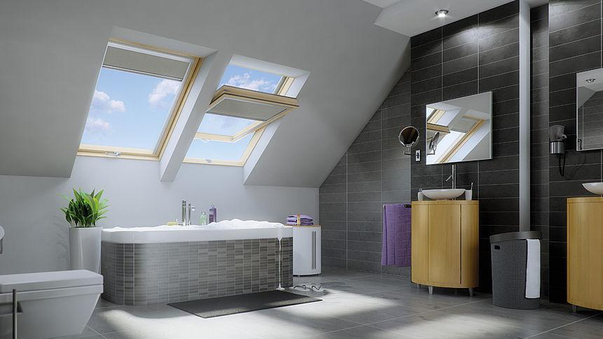 Guida edilizia finestra da tetto fakro ptp v in pvc un for Finestre tetto fakro
